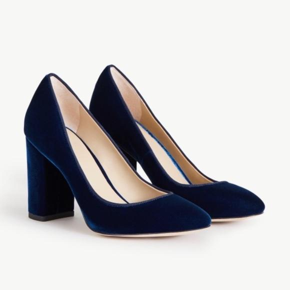 b310125de4 Ann Taylor Shoes - Ann Taylor emeline navy blue velvet pumps